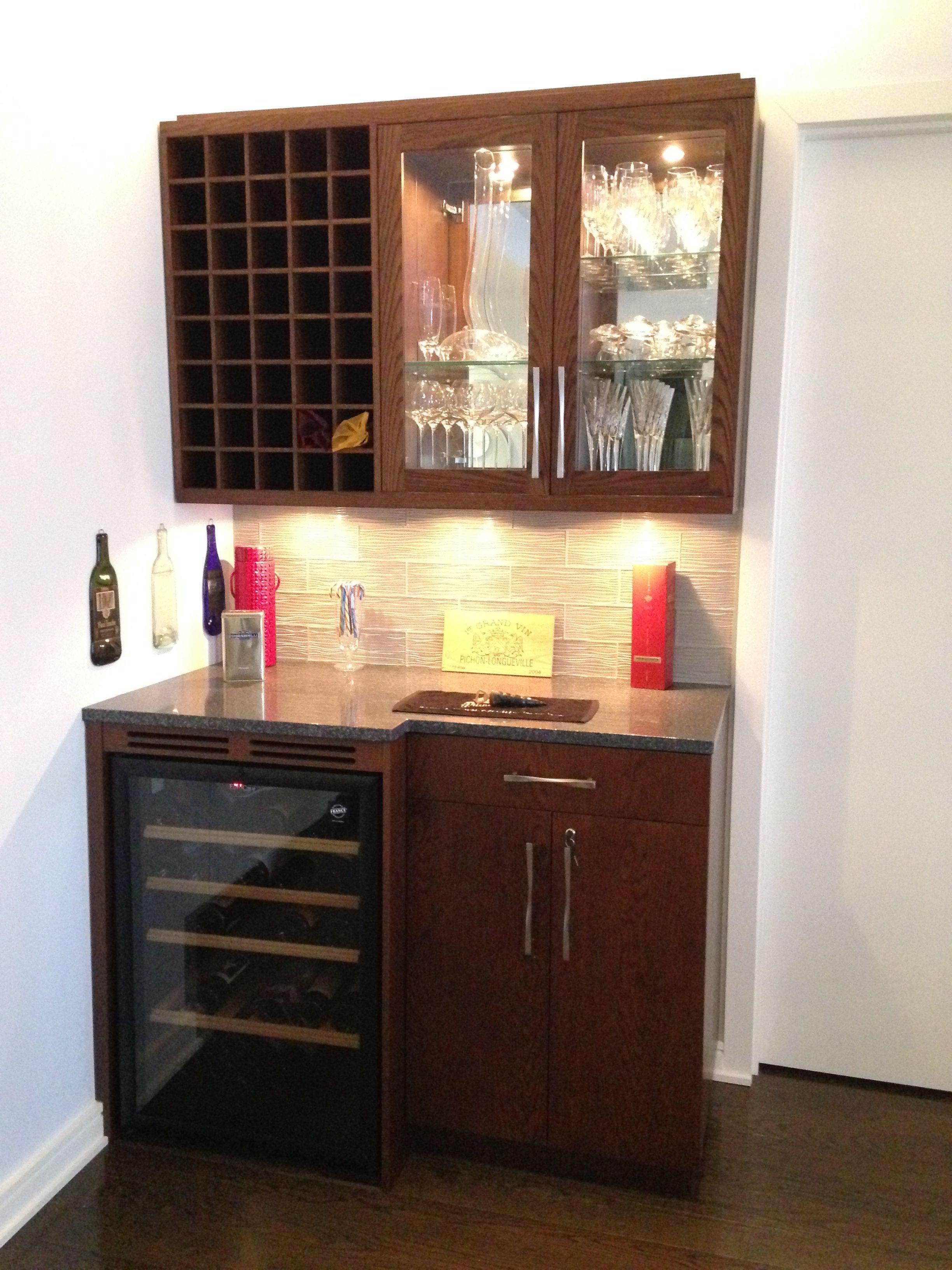 Custom Stained Oak Bar Cabinet Cabinetmakernyc Madeinbrooklyn Oak Bar Kitchendesign Woodworking Custom Kitchen Cabinets Kitchen Cabinets Custom Kitchen