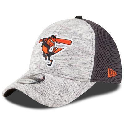 71169344bdfbd8 Men's Baltimore Orioles New Era Heather Gray 2016 Clubhouse 39THIRTY Flex  Hat