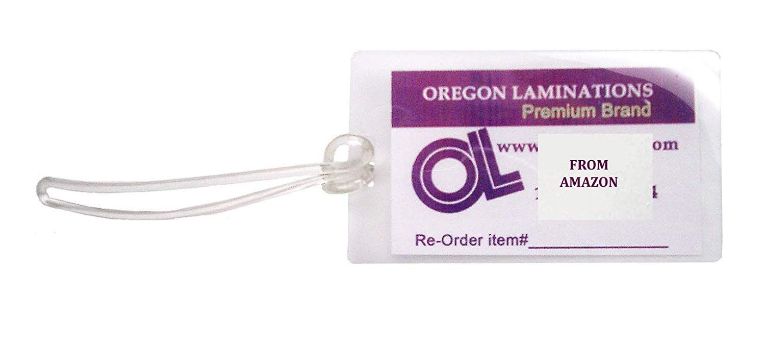 Qty 500 Of Each 10 Mil Luggage Tags Laminating Pouches With 6 Inch Loops 2 1 2 X 4 1 4 Pre Slotted You Can Find More Detail Glue Crafts Luggage Tags Pouch