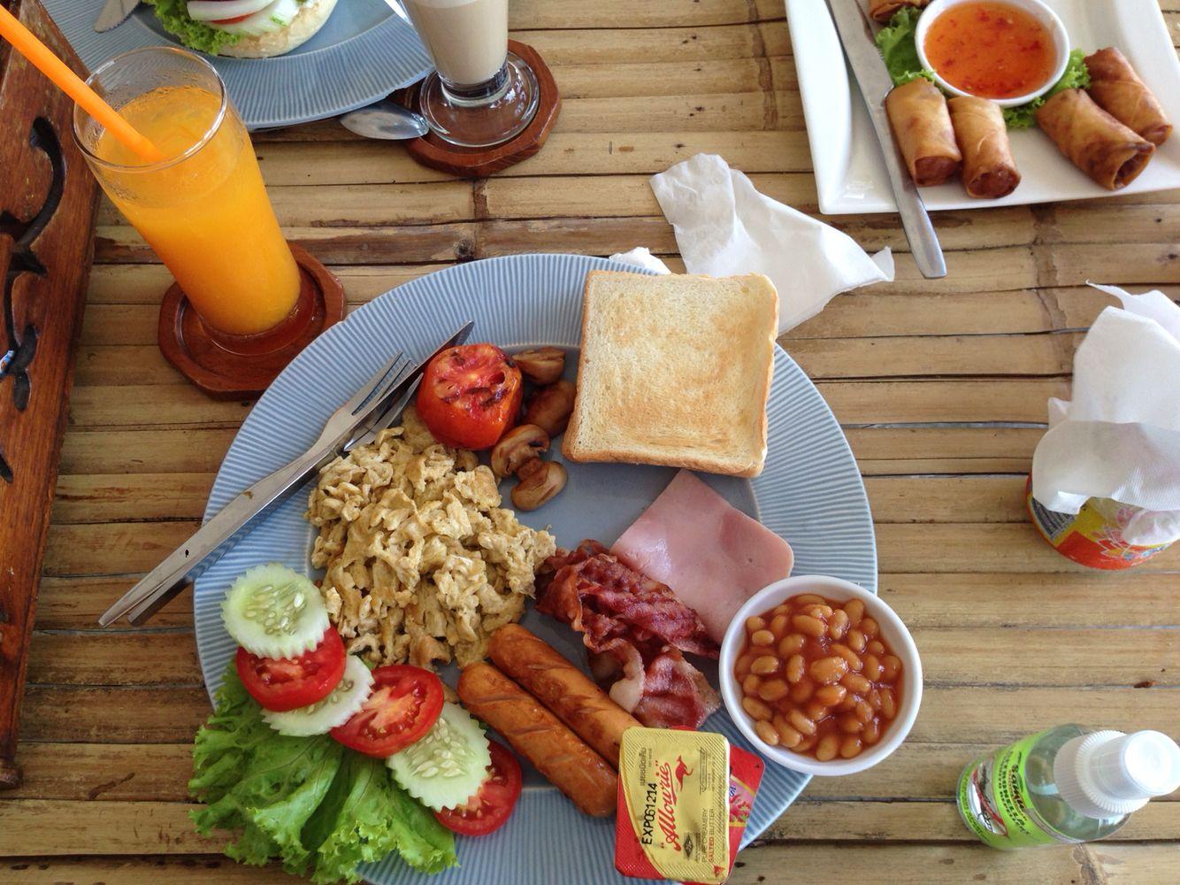 English breakfast thailand style food english breakfast