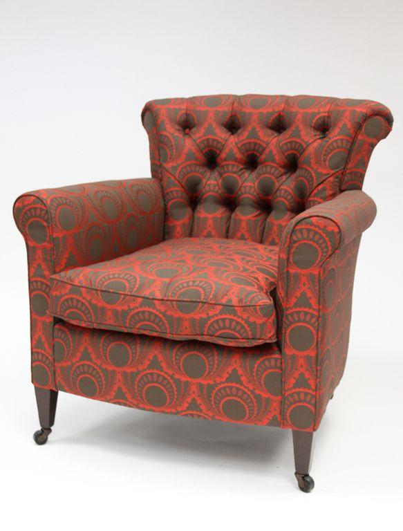 deep buttoned tub chair scroll arm pinterest tub chair soft