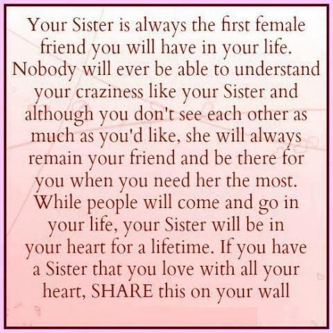 I wasn\'t blessed with a sister, but I was fortunate to have a best ...