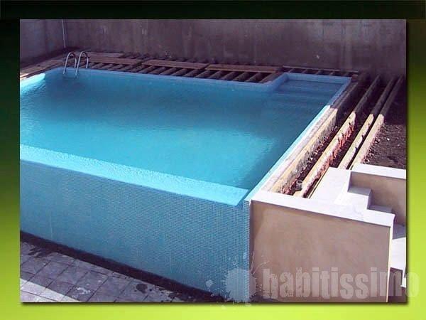 quisiera obtener presupuestos para construir una piscina de obra elevada de 4 x agua exterior 5 x y de profundidad de 20 a pintada de azul por - Como Hacer Una Piscina De Obra