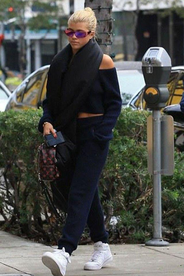 Sofia Richie Wears Sky High Balenciaga Logo Booties for