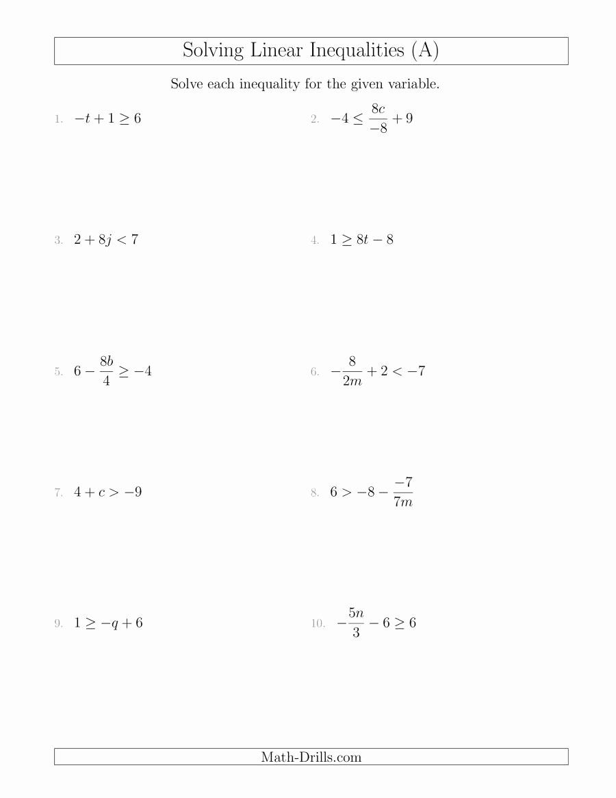 Solving Linear Equations Worksheet Pdf Best Of Solving Equations Worksheets Chessmuseum In 2020 Linear Inequalities Solving Linear Equations Writing Linear Equations