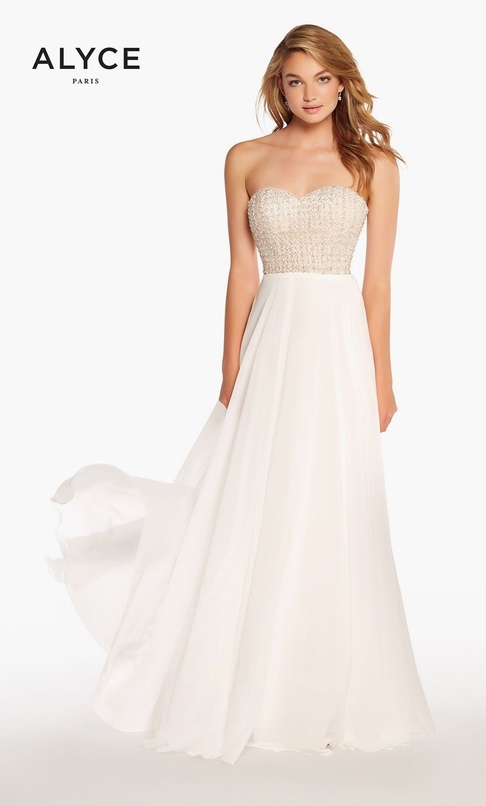 Alyce white prom dress designer prom dresses pinterest