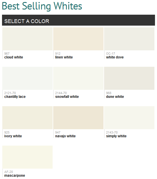 Best Selling Whites Benjamin Moore I Have Used Simply
