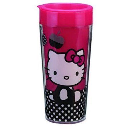 Hello Kitty 16 Oz. Plastic Travel Mug