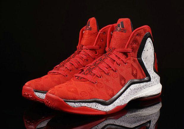 e82973b35c44bd adidas D Rose 5 Boost BRENDA Bright Crimson White Valentines day ...