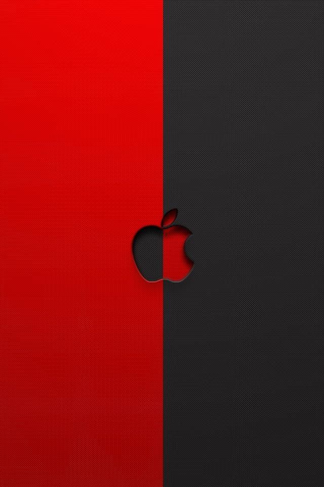 Red And Black Apple Logo Iphone 6 6 Plus And Iphone 5 4 Wallpapers Black Apple Logo Wallpaper Iphone 4s Apple Logo Wallpaper