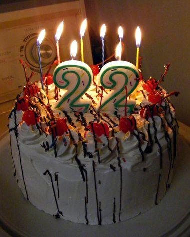 22 Birthday Cake : birthday, Years, Living, Together, February, Birthday, Cakes,, Happy, Birthday,, Cakes