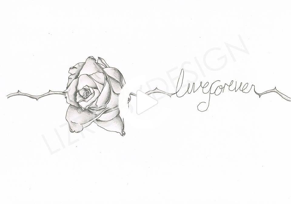 tatouage au poignet Rose pour mon cousin, en citant Live Forever ' en 2020   Tatouage poignet ...