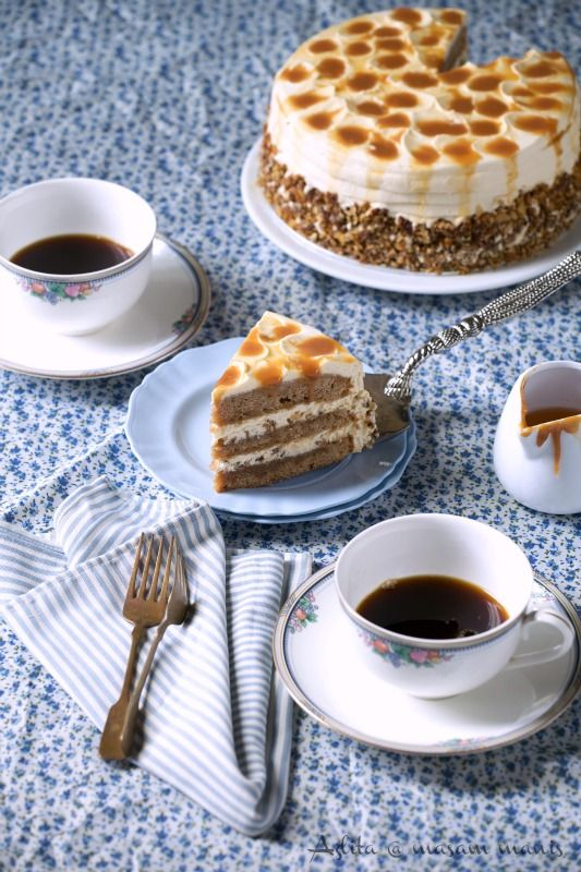Masam Manis Pecan Haven Cake With Butterscotch Frosting