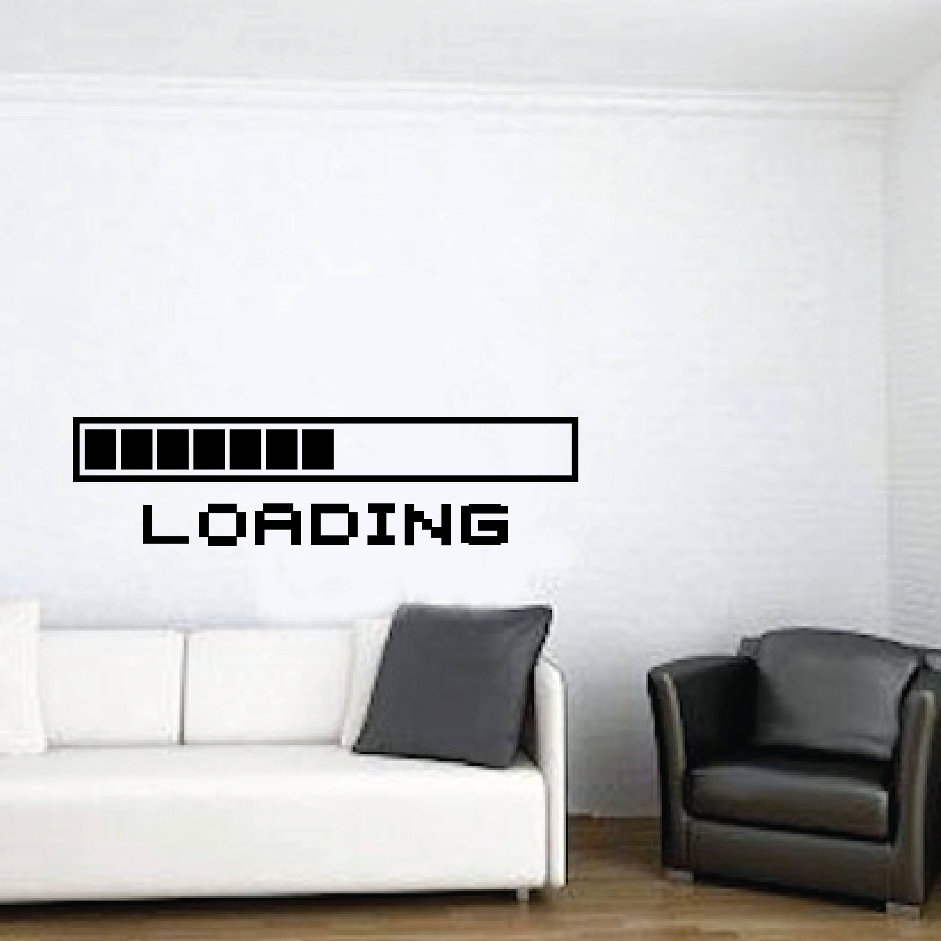 Game Room Home Decor Computer Loading Video Game Loading Wall