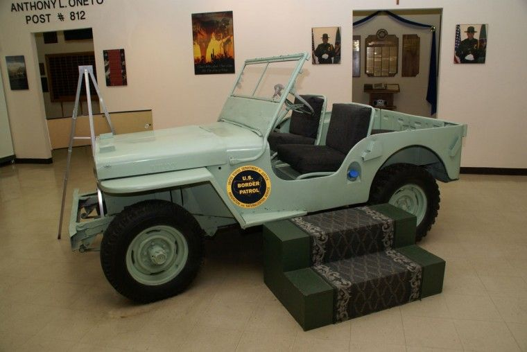 Jeep Cj 2a On Display At The Us Border Patrol Museum In El Paso