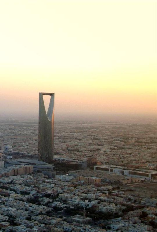 Kingdom Tower At Dawn Riyadh Saudi Arabia Saudi Arabia World
