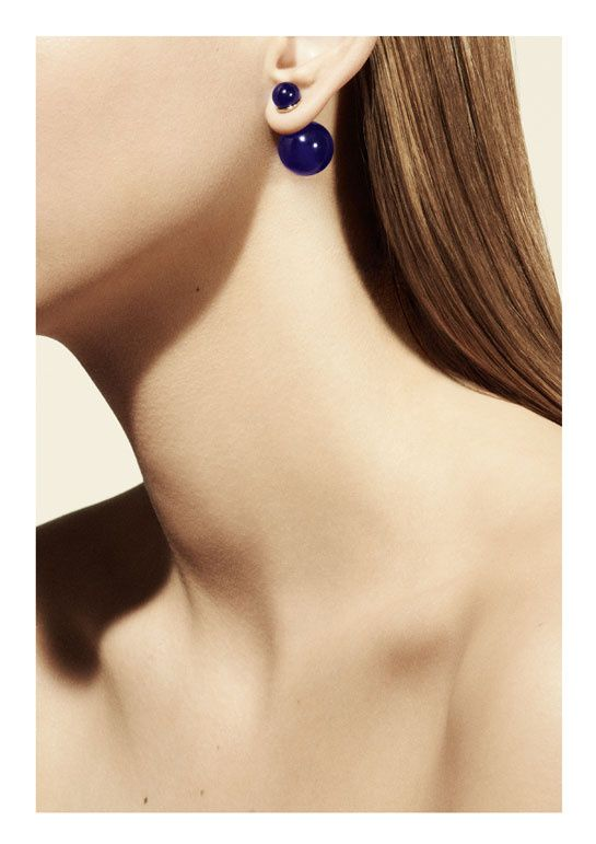 Boucle d'oreille dior double perle prix