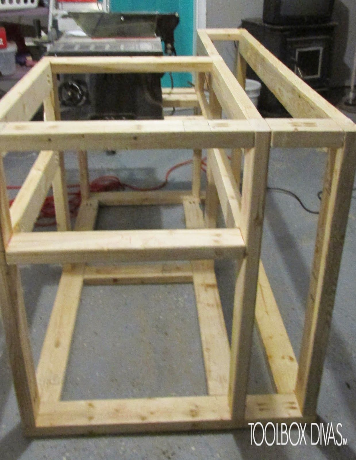 Table Saw Workbench With Wood Storage The Lab Pinterest