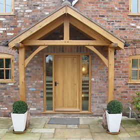 Bespoke green oak porch front door canopy handmade in shropshire : timber front door canopy - memphite.com