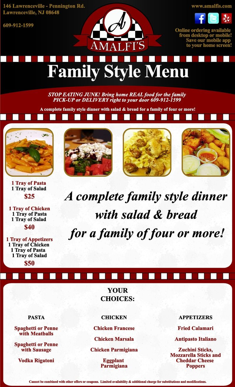 Pin By Yeojeong Gu On Restaurant Menu Formats Real Food Recipes Family Style Dinner Menu Restaurant