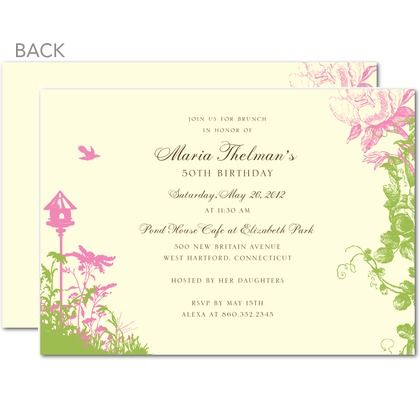 Tea Garden invitations