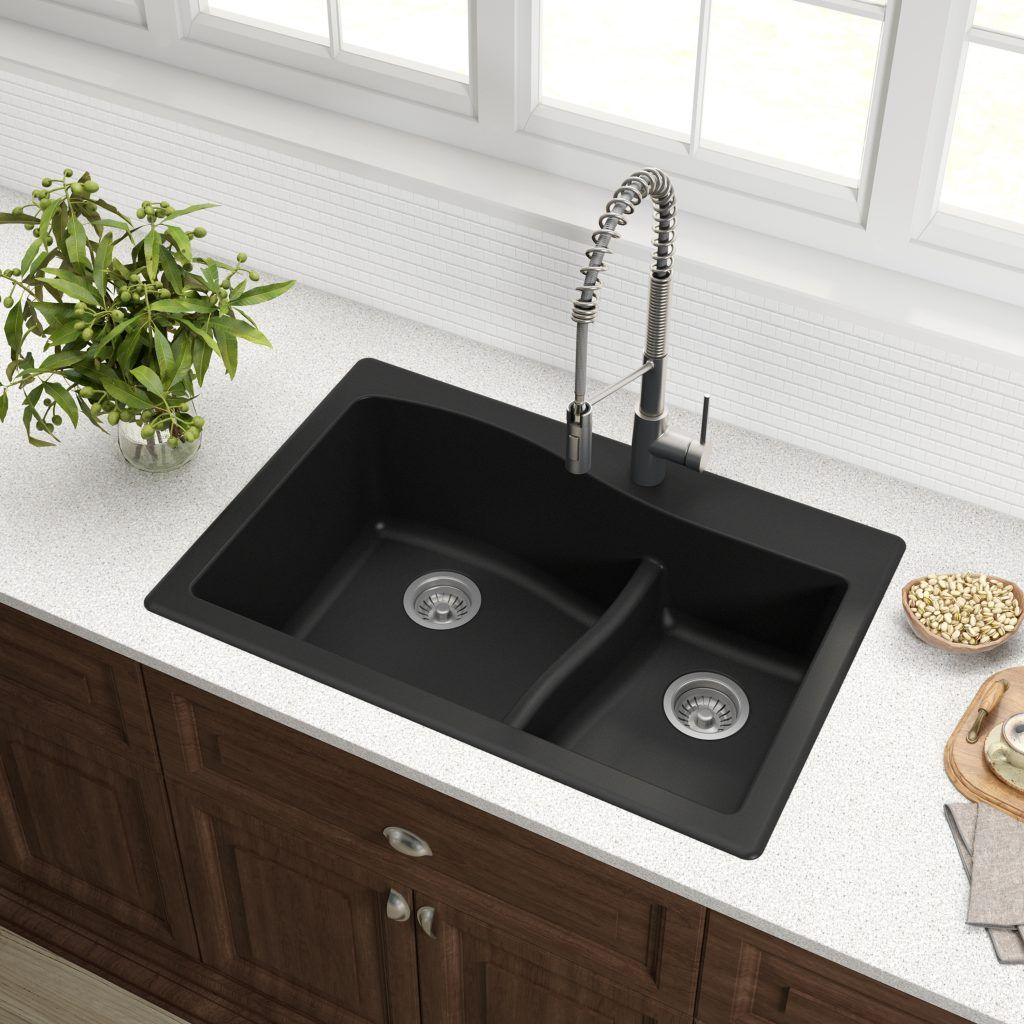 Full-Swivel Kitchen Faucet Line from Kraus USA featuring top-mount ...