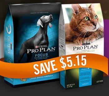 Purina Pro Plan Dog Or Cat Food Coupon Save 5 15 Cat Food