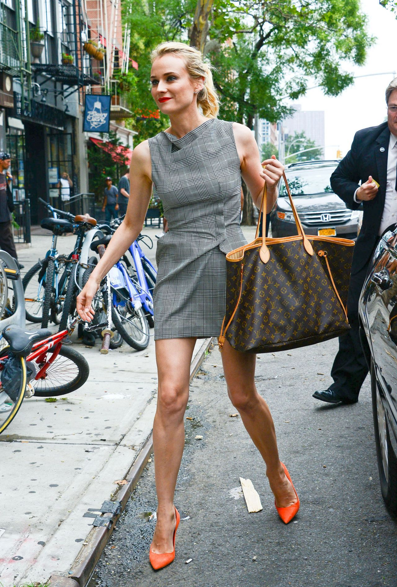 Diane Kruger Hot In Mini Dress Out In New York City July