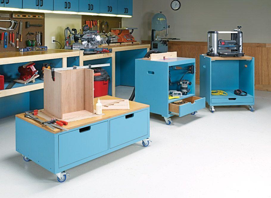 3 versatile carts woodsmith plans a flip top tool on top 55 best garage workshop ideas basics of garage workshop ideas explained id=59048