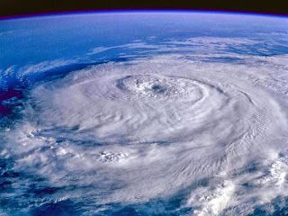 Hurricane as seen from space.