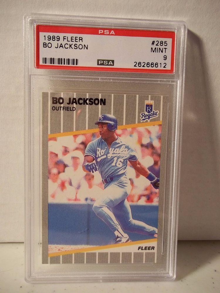1989 Fleer Bo Jackson Psa Mint 9 Baseball Card 285 Mlb