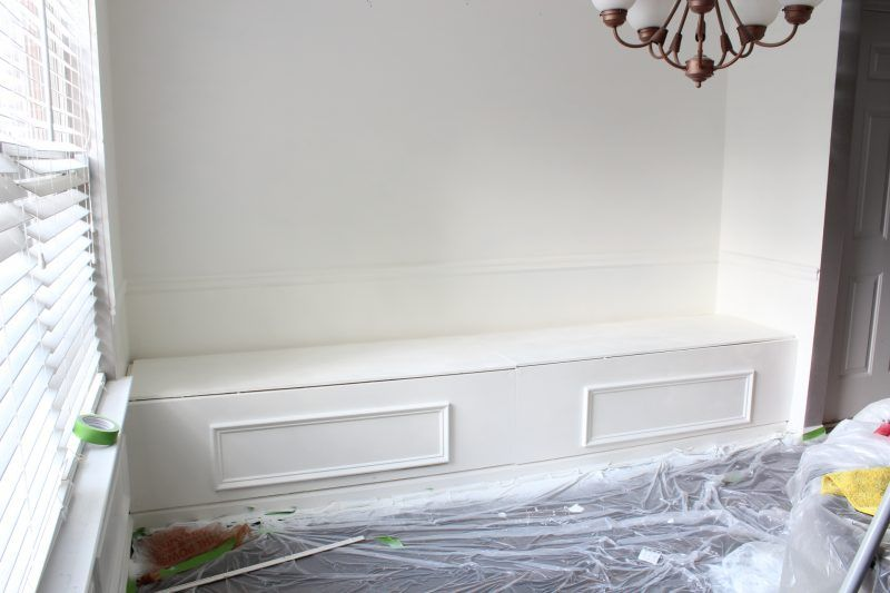 A DIY Built-In Bench with Storage tutorial for any space of your home.