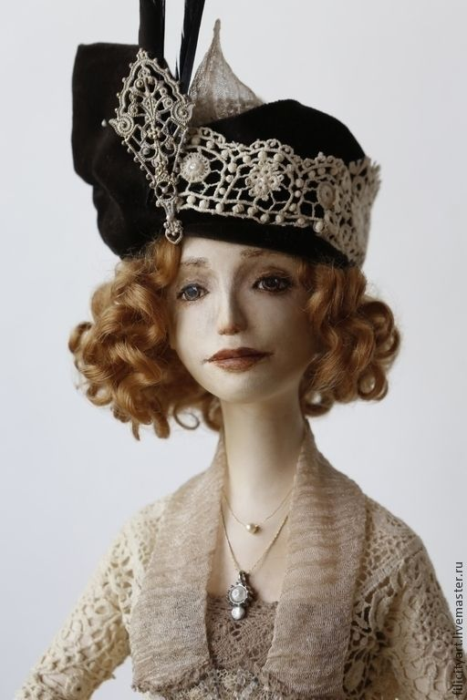 Купить или заказать 'Ретро' в интернет-магазине на Ярмарке Мастеров. Утонченная и изящная ретро-девушка. Эта работа с легкостью впишется в любой интерьер. Художественная кукла ручной работы. Единственный экземпляр.