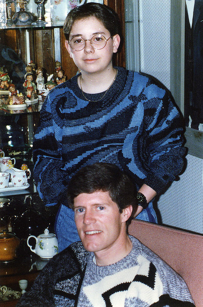10 wonderfully terrible Christmas jumpers - Father and son