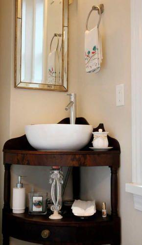Superior Corner Sink/shelf
