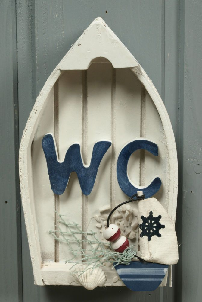 Maritime Style Toilettenschild WC-Schild Türschild Wand Deko