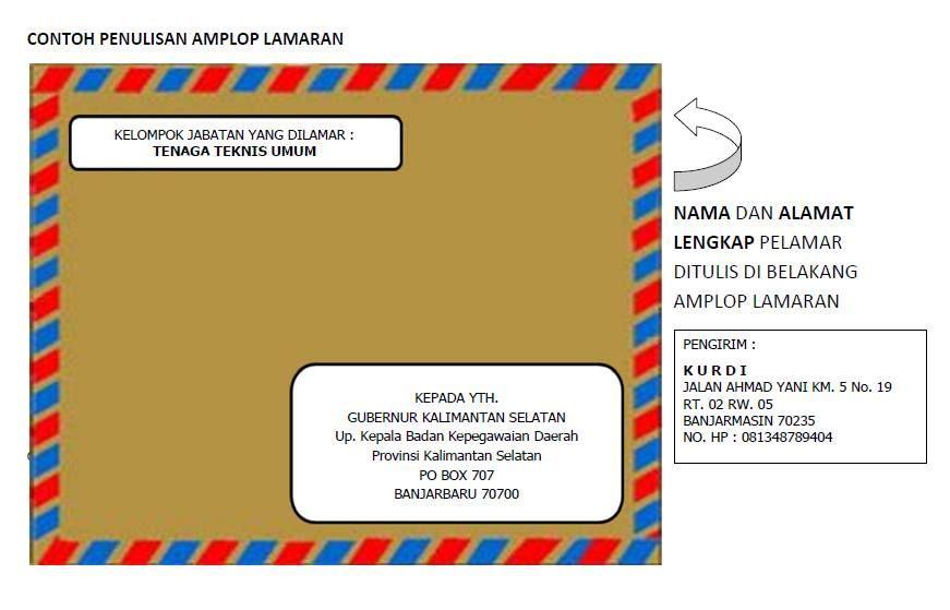 Surat Lamaran Kerja Via Pos Cv Kreatif Surat Amplop Resep Kuini