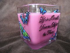 Tie Dye Butterfly Pink Soy Candle and Keepsake Holder | The Woodland Rose Garden #TheWoodlandRoseGarden #TieDye #Butterfly
