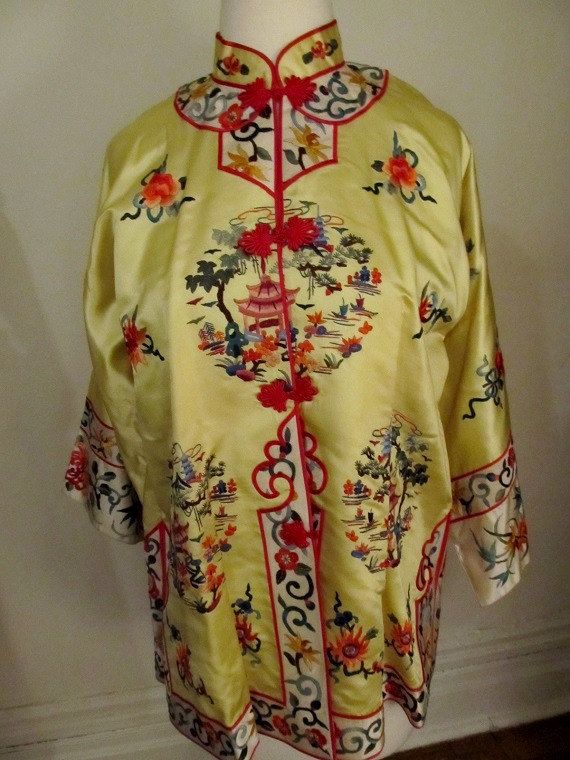 a303e6289b Vintage Silk Chinese Jacket by omistressvintage on Etsy, $140.00 ...