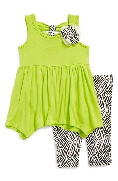 Nicole Miller Sleeveless Tunic & Leggings (Baby Girls) available at #Nordstrom