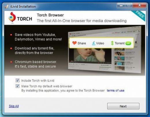 STEP 2: Torch Browser  Uninstall iLivid Download Manager - 2  STEP 3