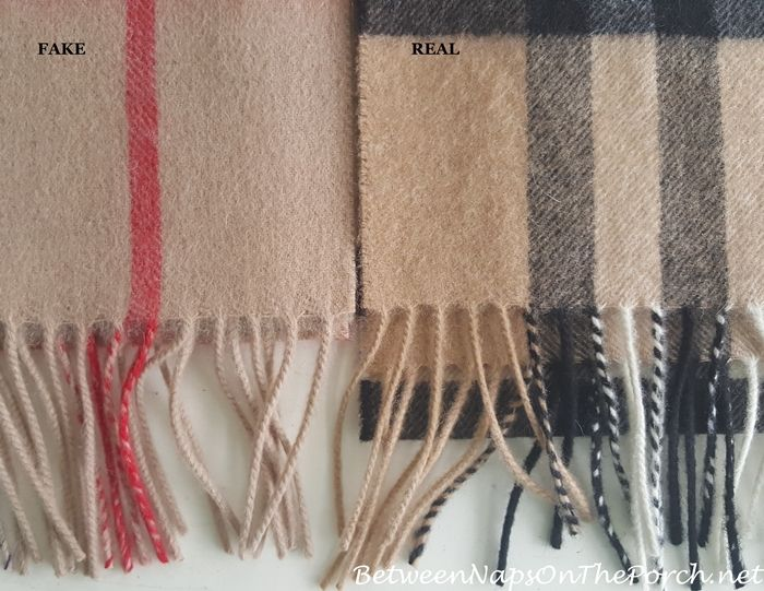 fb0d259c8709 Difference in Fringe on Real Burberry Scarf vs a Fake Burberry Scarf
