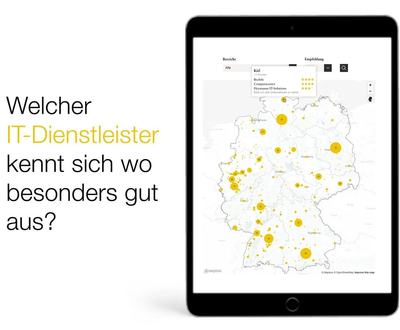deutschlandkarte interaktiv brand eins /thema IT Dienstleister – Interaktive Deutschlandkarte