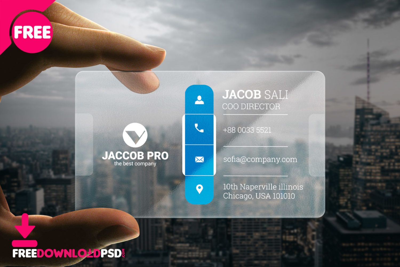 Transparent Corporate Business Card Corporate Business Card Business Card Design Creative Business Card Design