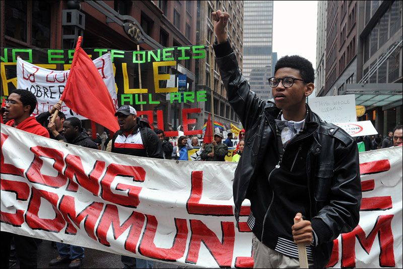 Chicago Usa A Young Communist Champions His Cause During The May Day Immigration Rally By Ivan Lo Humanitarian Projects American Civil War Humanitarian