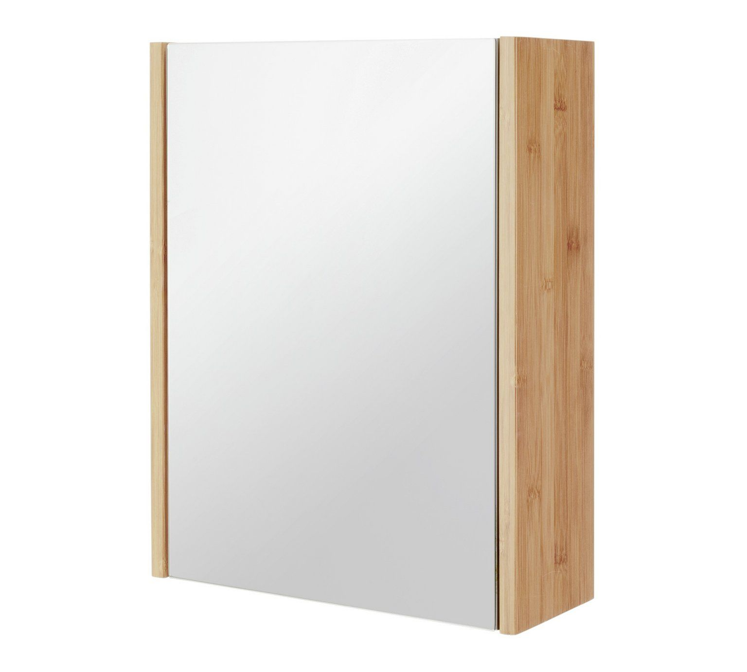 Buy Collection 1 Door Mirrored Bamboo Cabinet Two Tone At Argos Co