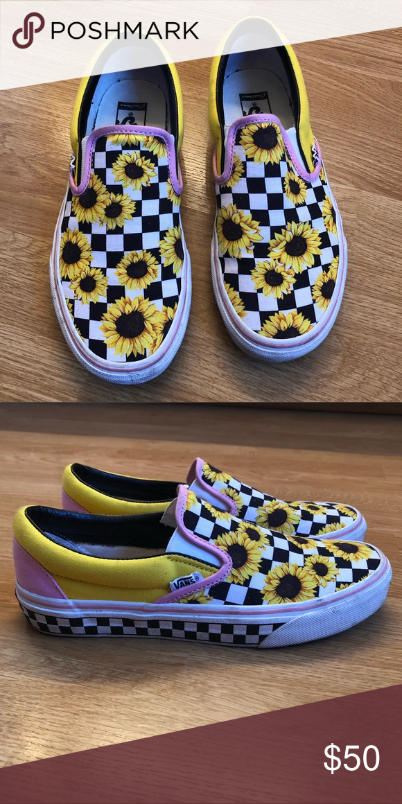 d96074bdd9 Shoes Customized Sunflower vans (worn once) Vans Shoes Sneakers