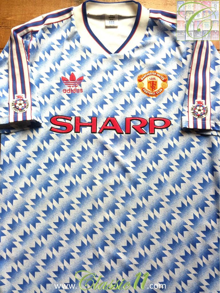 2125e6474 1990 91 Man Utd Away Division 1 Shirt (M)  1990  1991  away  division  man- utd  manchester  medium  united