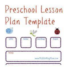 Make Preschool Lesson Plans To Keep Your Week Ready For Fun