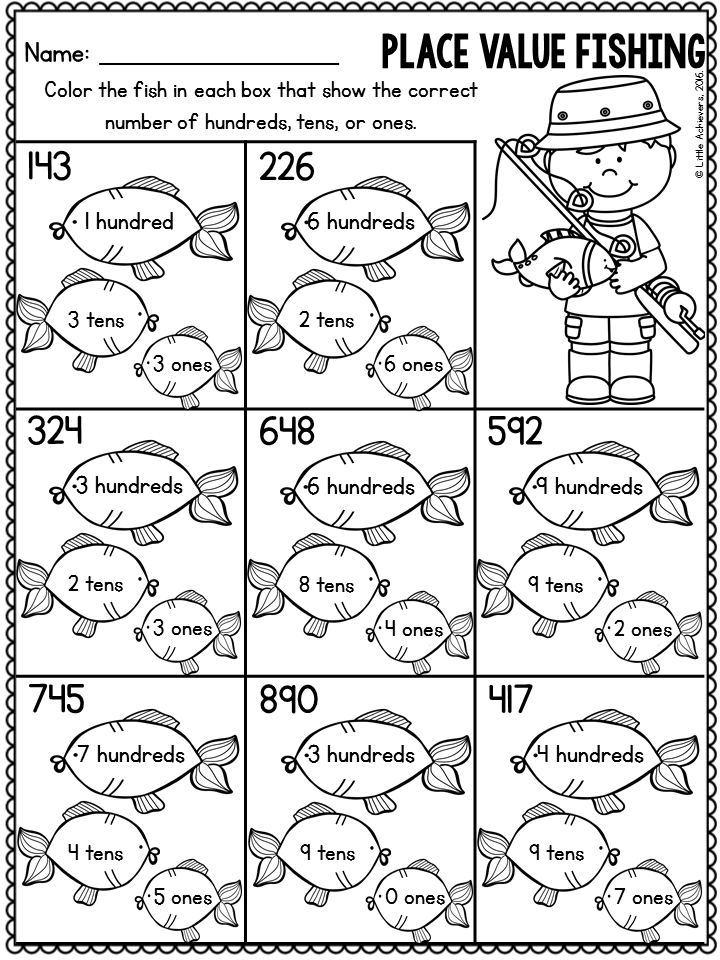 Summer Packet 1st Grade Math Worksheets and Literacy
